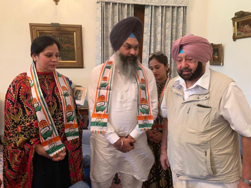 Captain Amarinder Singh Welcomed Upkar Singh Tohra