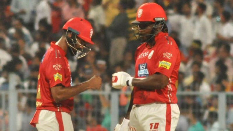 Rahul and Chris Gayle