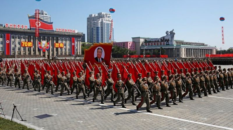 North Korea staged a huge military parade