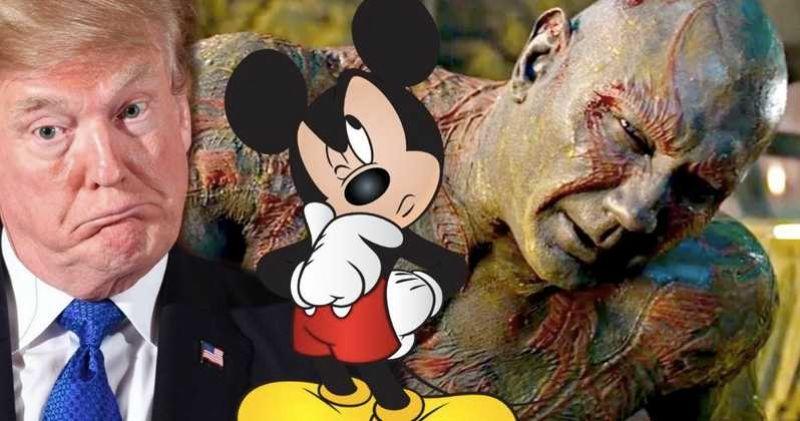 Dave Bautista compares Disney to Donald Trump