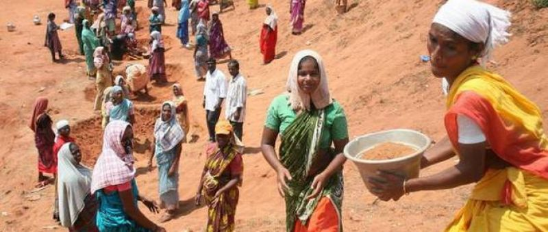 Government's rural employment guarantee scheme MNREGA