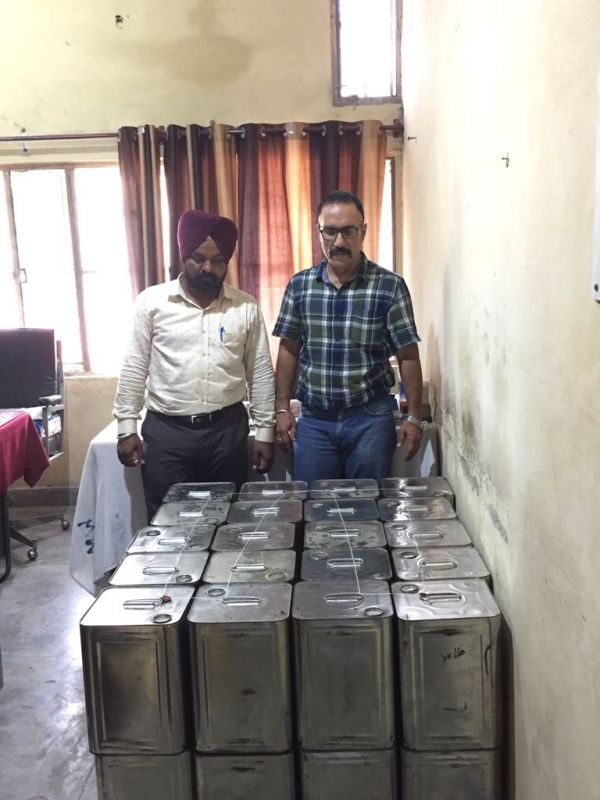 entire stock of Vanaspati, the 40 tins was seized after taking samples