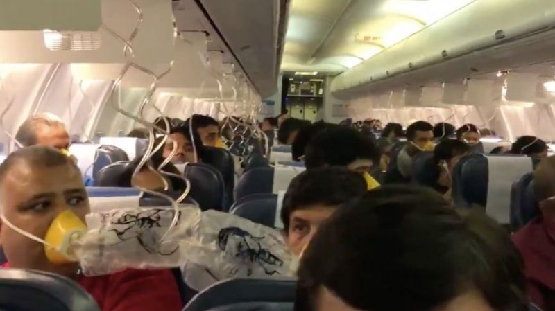 Mid-air scare on board Jet Airways