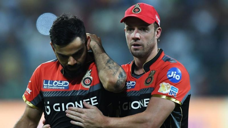 Royal Challengers Bangalore captain Virat Kohli and AB De Villiers