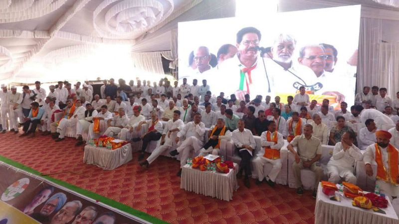 Pilot along with other Congress leaders launched 'Sankalp Rally