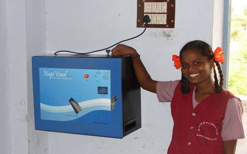 Kerala became the first state to install sanitary napkin vending machines in schools