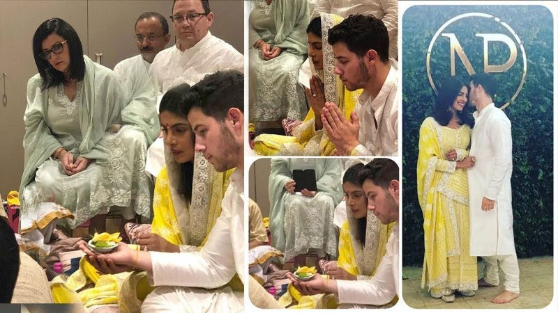 Priyanka and Nick were seen in traditional Indian attires
