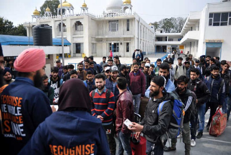 Gurdwaras in Mohali extended towards the harrowed Kashmiri students
