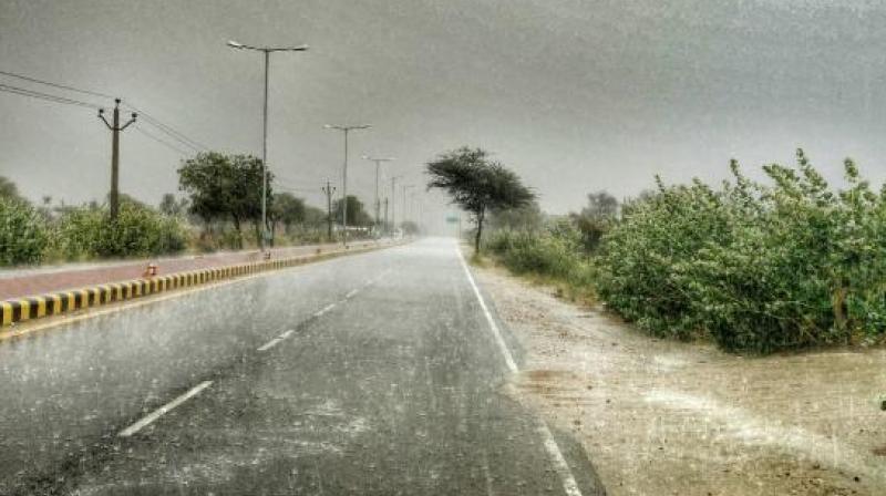 Districts received 'deficit' rainfall (-20 to -59 per cent)
