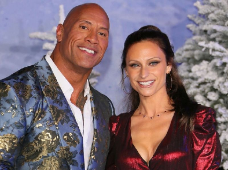 'The Rock' with his wife