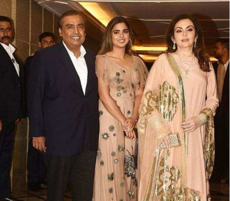 Industrialist Mukesh Ambani and his wife Nita too joined the festivities