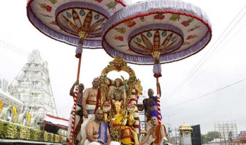 Annual festival of 'Brahmotsavam'