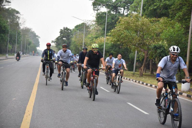 Indian Oil organized 'Cyclothon'