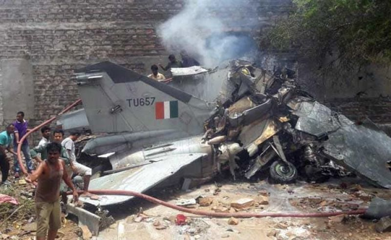 IAF's MiG-27 fighter jet crashes in Jodhpur