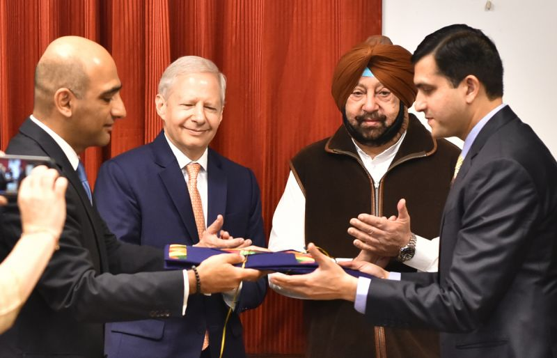 Captain Amarinder Singh with US Ambassador
