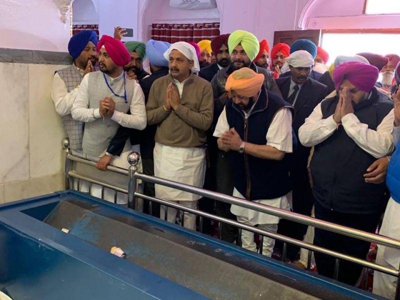 Chief Minister paid obeisance at the Chamkaur Sahib
