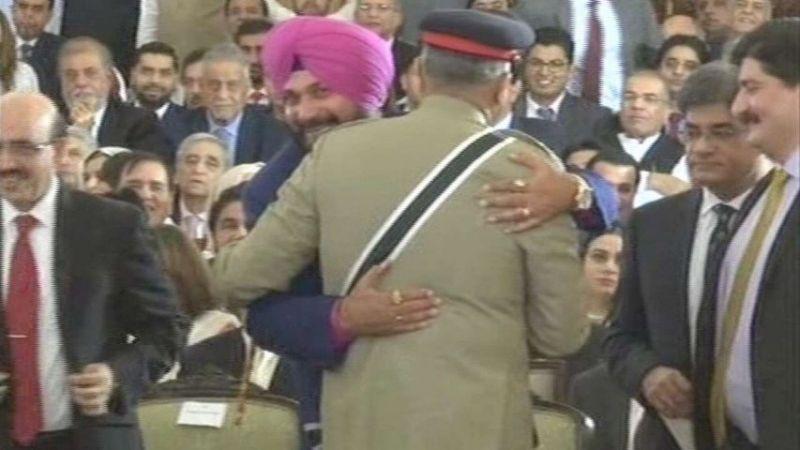 Qamar Javed Bajwa met Navjot Singh Sidhu