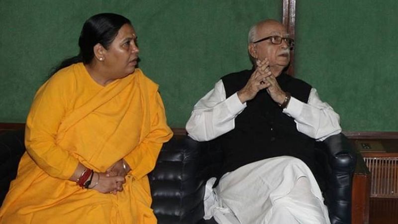 L K Advani and Uma Bharti
