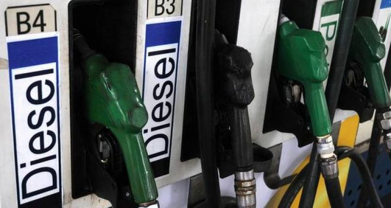Diesel rate touched its highest level of Rs 72.51 a litre