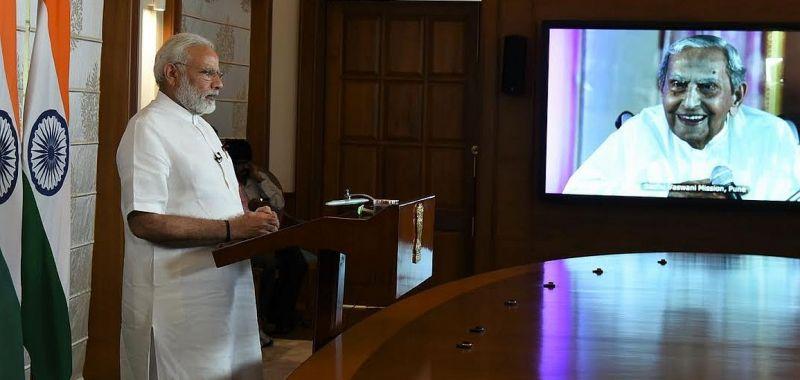 Narendra Modi had addressed the spiritual leader's 99th birthday celebrations