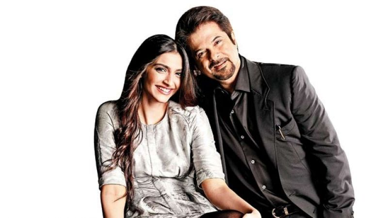 Anil Kapoor with his daughter Sonam Kapoor