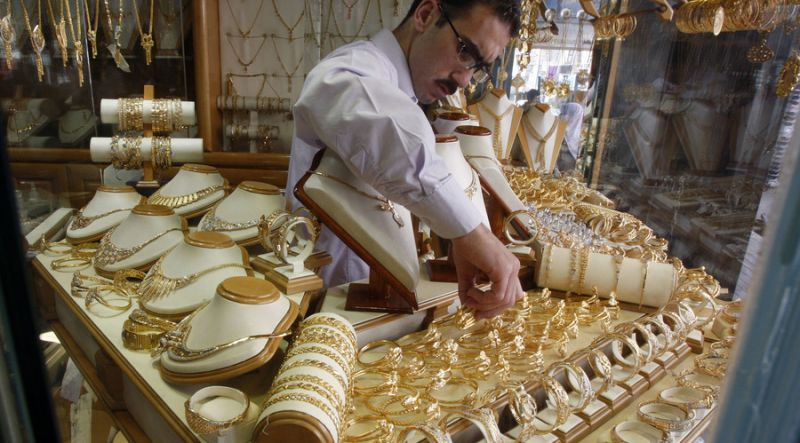 sluggish demand from local jewellers