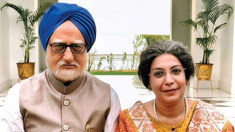 A still from film in which Anupam Kher plays Dr Manmohan Singh