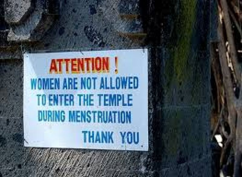 Women are not allowed in temples and to touch pickles during menstruation