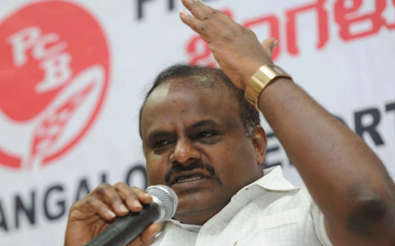 Kumaraswamy accuses BJP of trying to topple his government