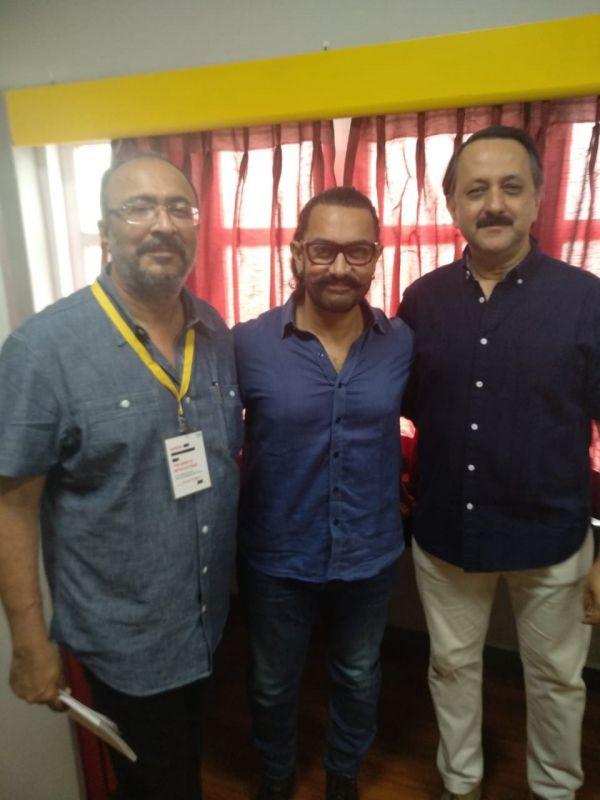 Anjum Rajabali, Aamir Khan and Rohit Khattar