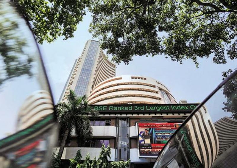 BSE Sensex slipped from its record high