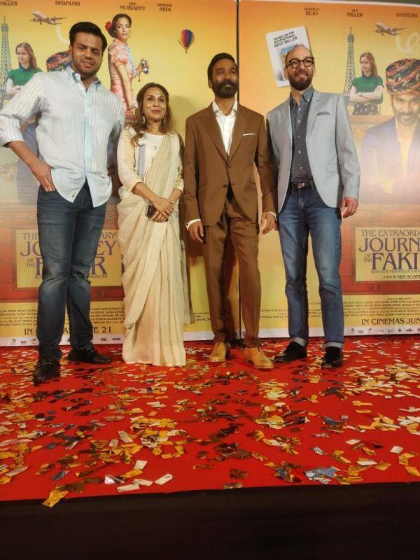 Gulzar Inder Chahal, Aishwarya, Dhanush and Ken Scott