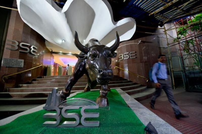BSE gauge Sensex was trading at 38,718.67