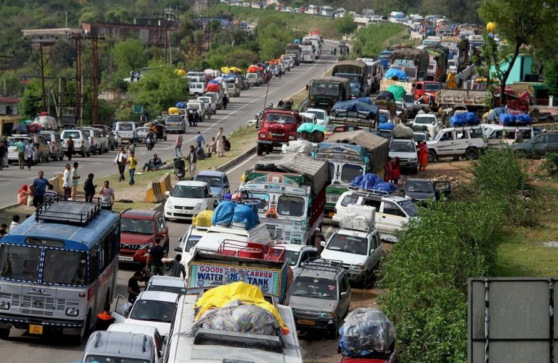 Intermittent rains briefly hampered road clearance operations