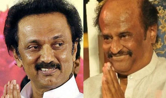 Image result for MK Stalin targets Rajinikanth's spiritual plank, DMK working president M K Stalin has s