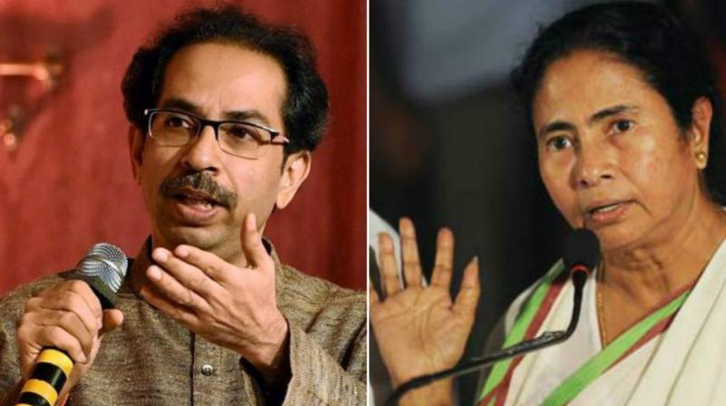 Uddhav Thackeray calls on Mamata Banerjee